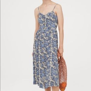 H&M Paisley Button up Dress